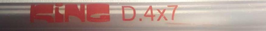 I 0402590 TUBO TRASPARENTE PER BENZINA VERDE  DIAMETRO 4 X 7 mm